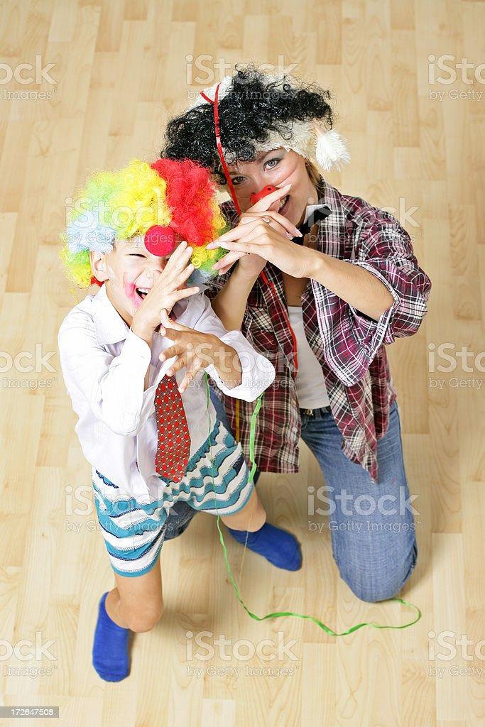 Funny clowns royalty-free stock photo