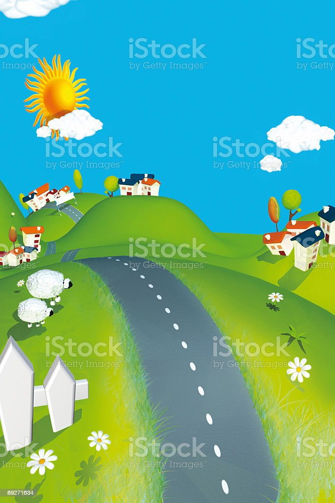 Funny countryside stock photo