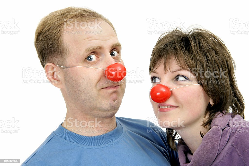 Funny couple royalty-free stock photo