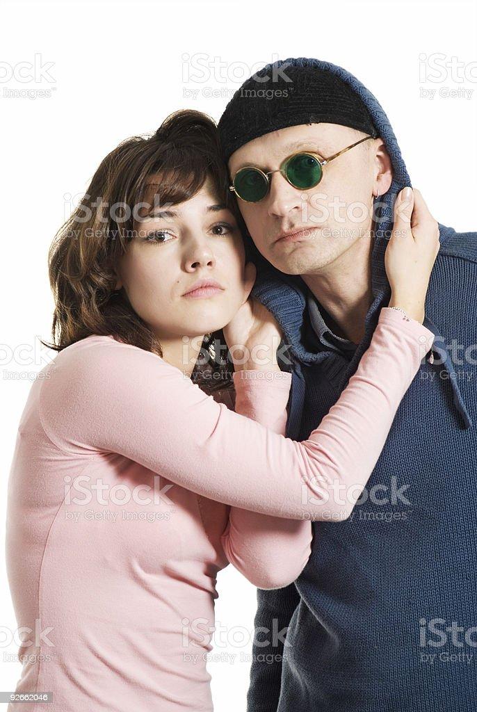 Funny couple royalty-free stock photo