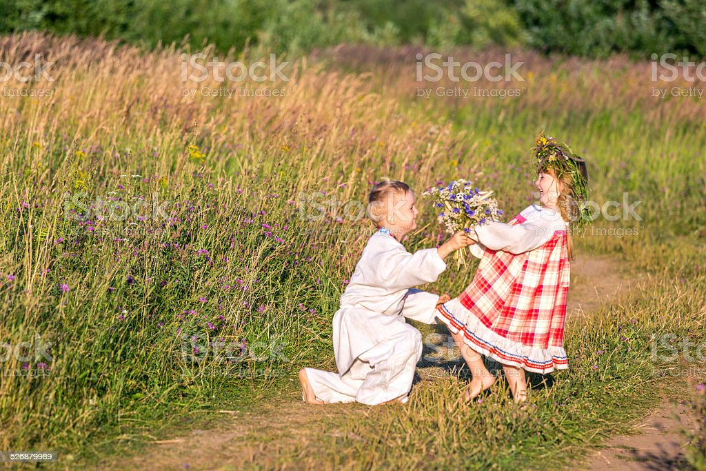 Funny courting stock photo