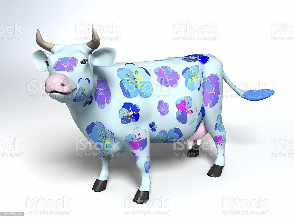 Funny cow stock photo