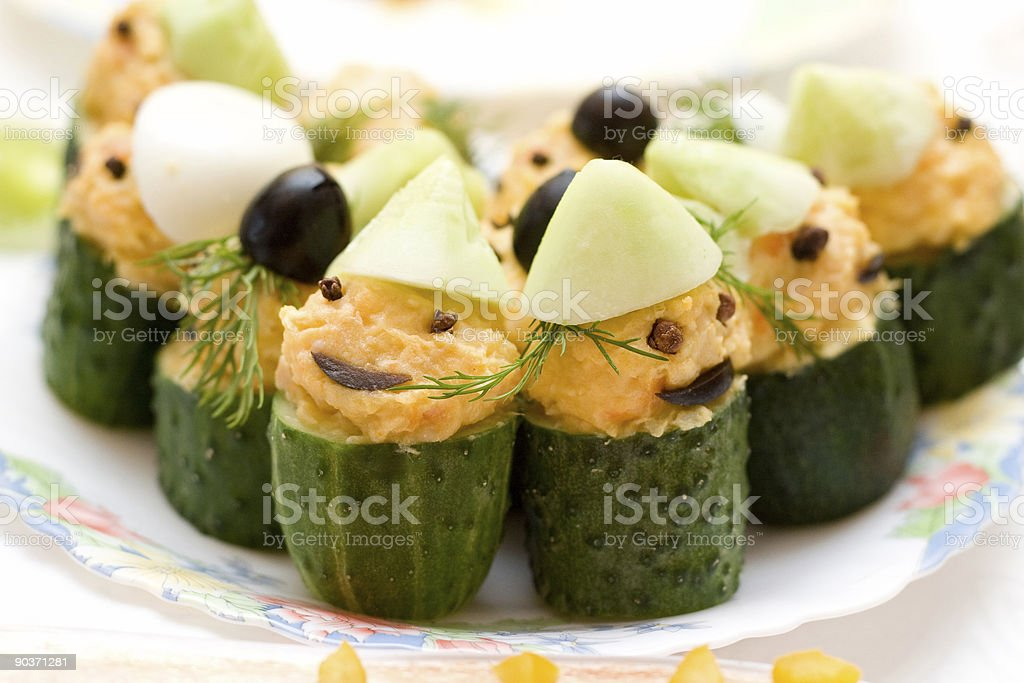 funny cucumbers royalty-free stock photo