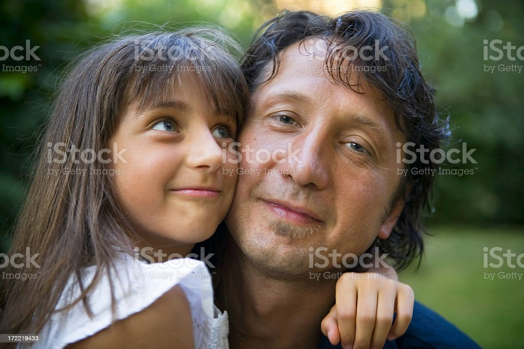 Funny daughter stock photo