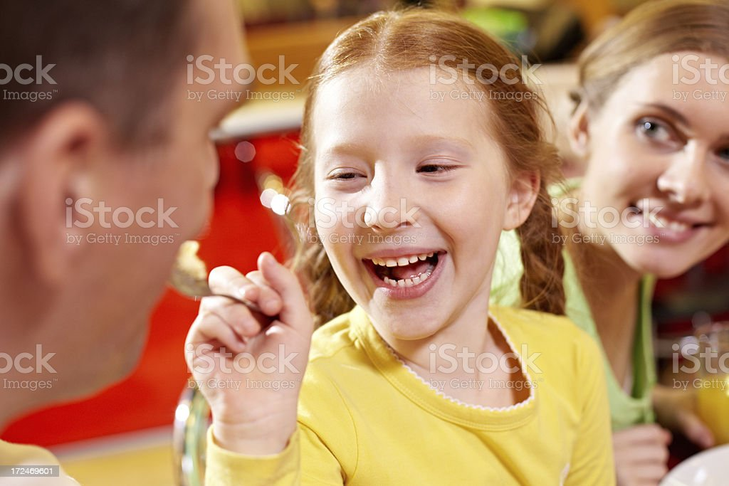 Funny dinner royalty-free stock photo