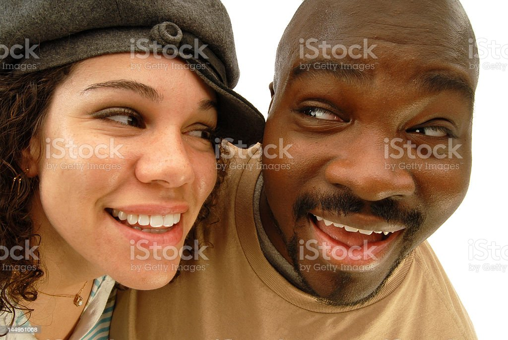 Funny distorted portrait royalty-free stock photo
