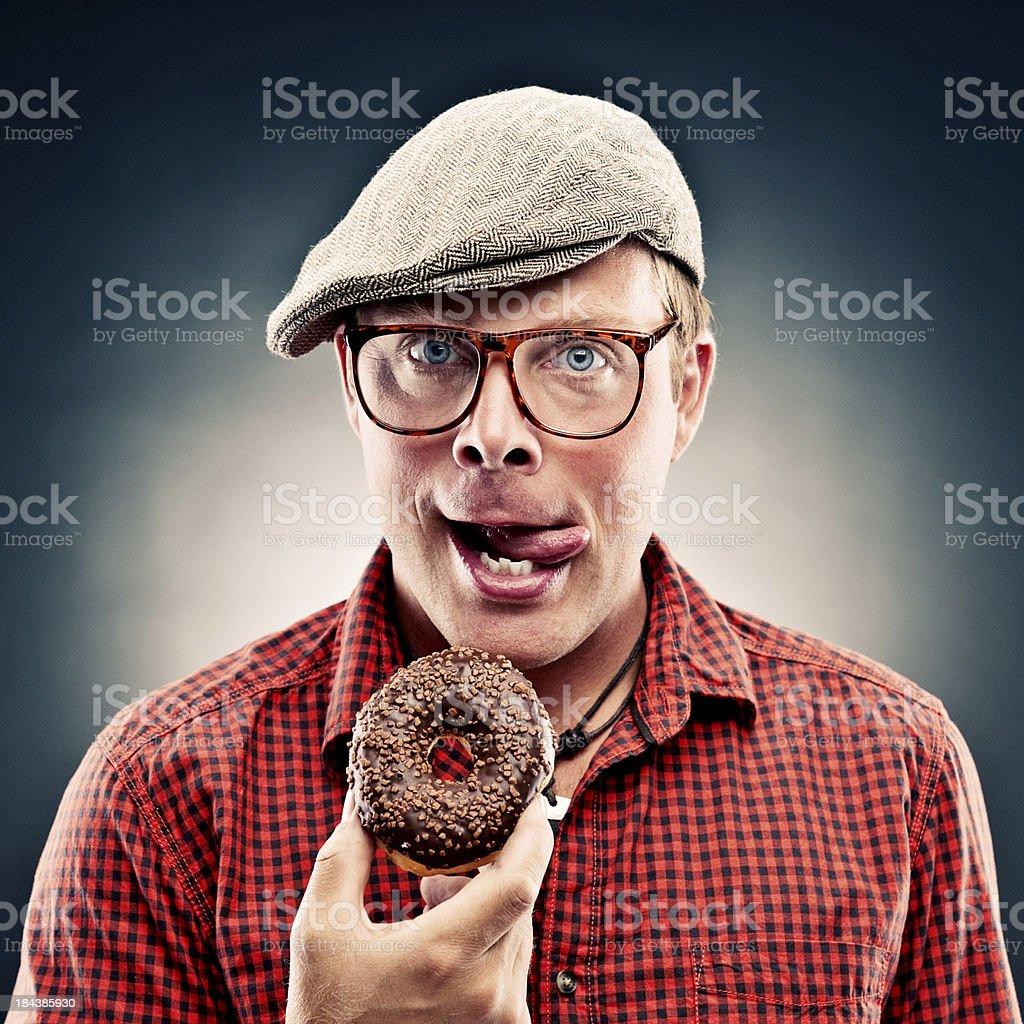 Funny donut man royalty-free stock photo