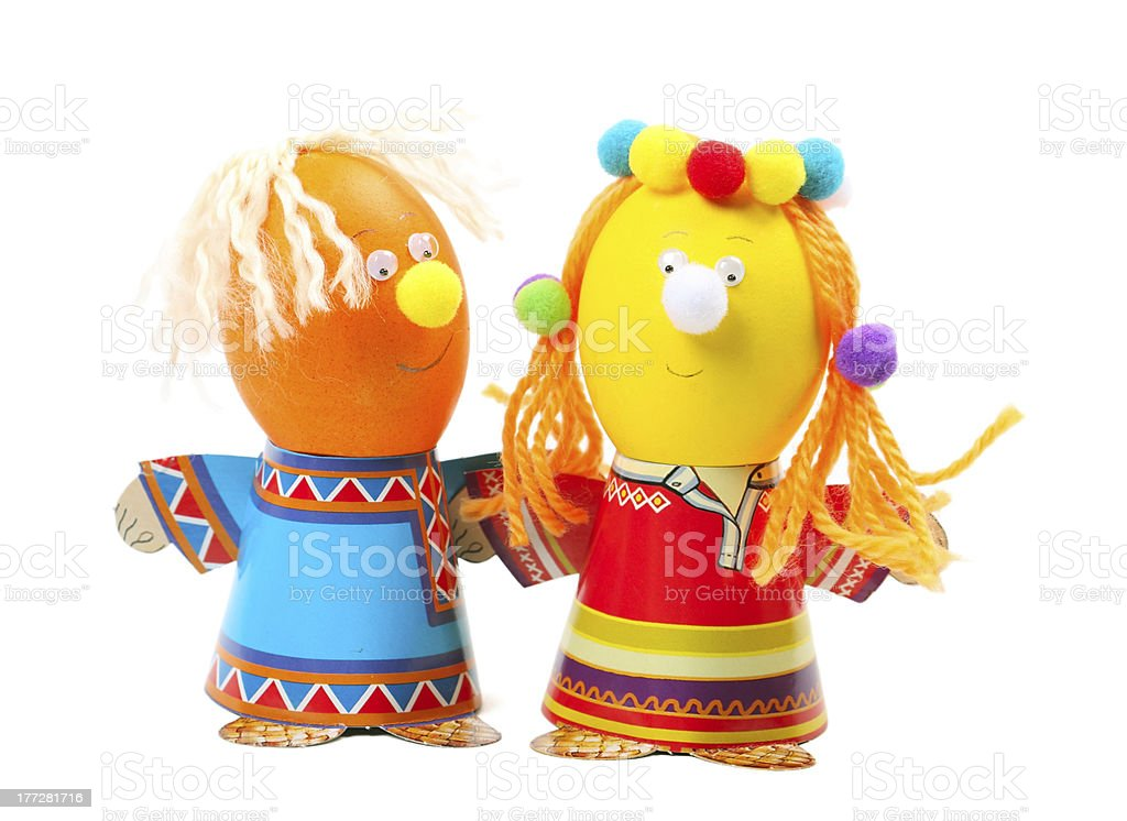 Funny easter eggs royalty-free stock photo
