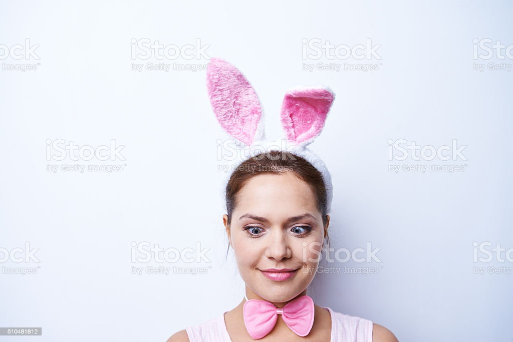 Funny Easter stock photo