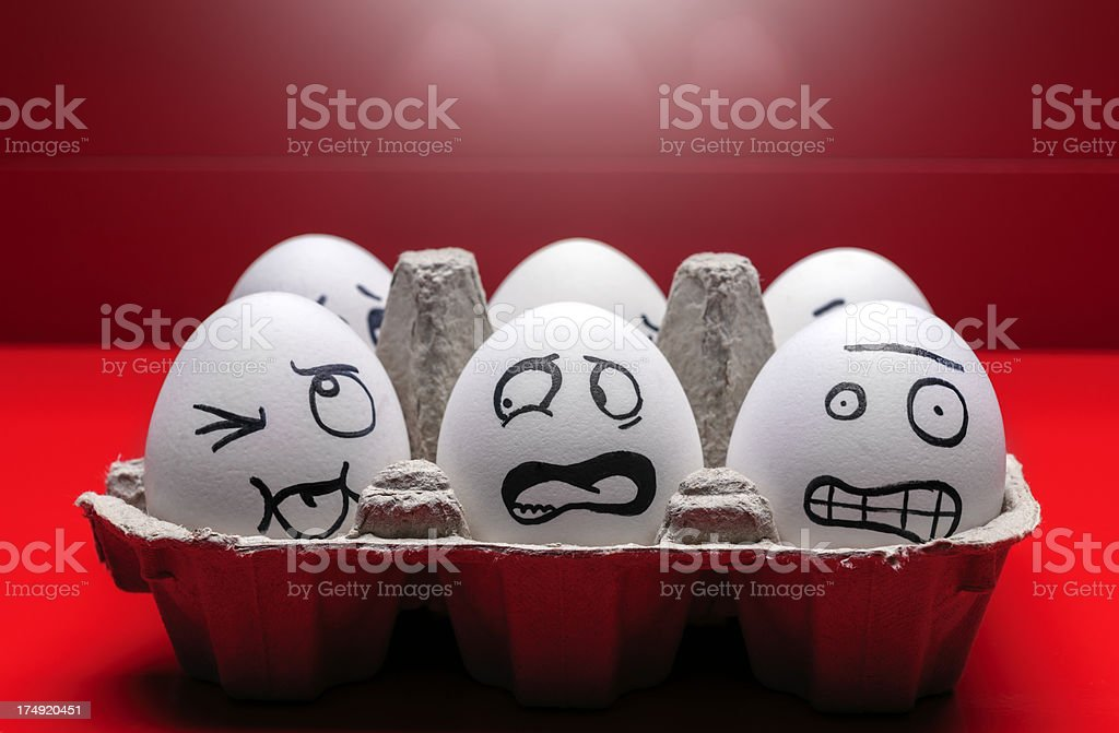 funny eggs royalty-free stock photo