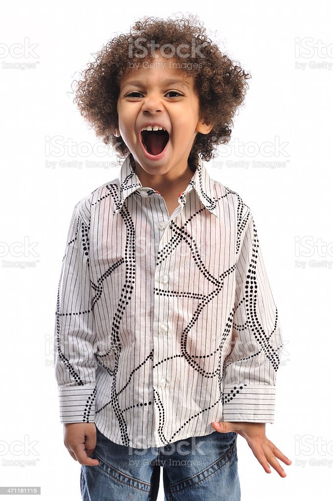Funny expression royalty-free stock photo