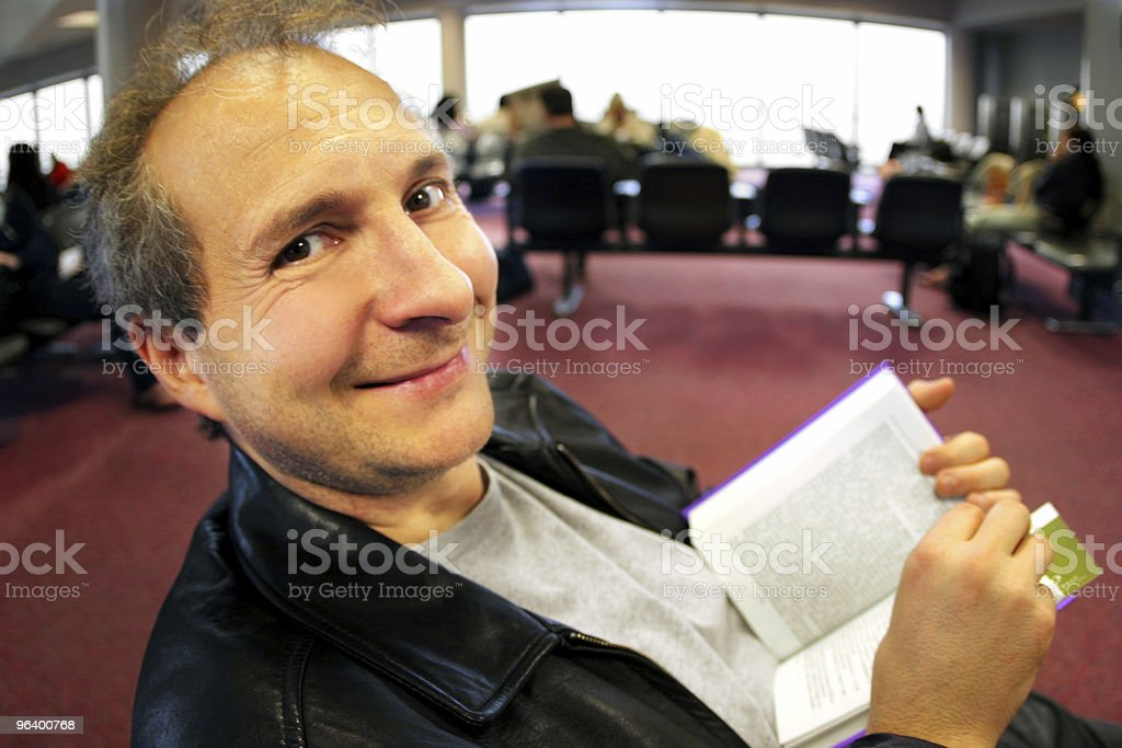 Funny face at the airport royalty-free stock photo
