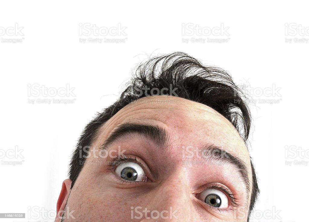 Funny face peeking into camera royalty-free stock photo