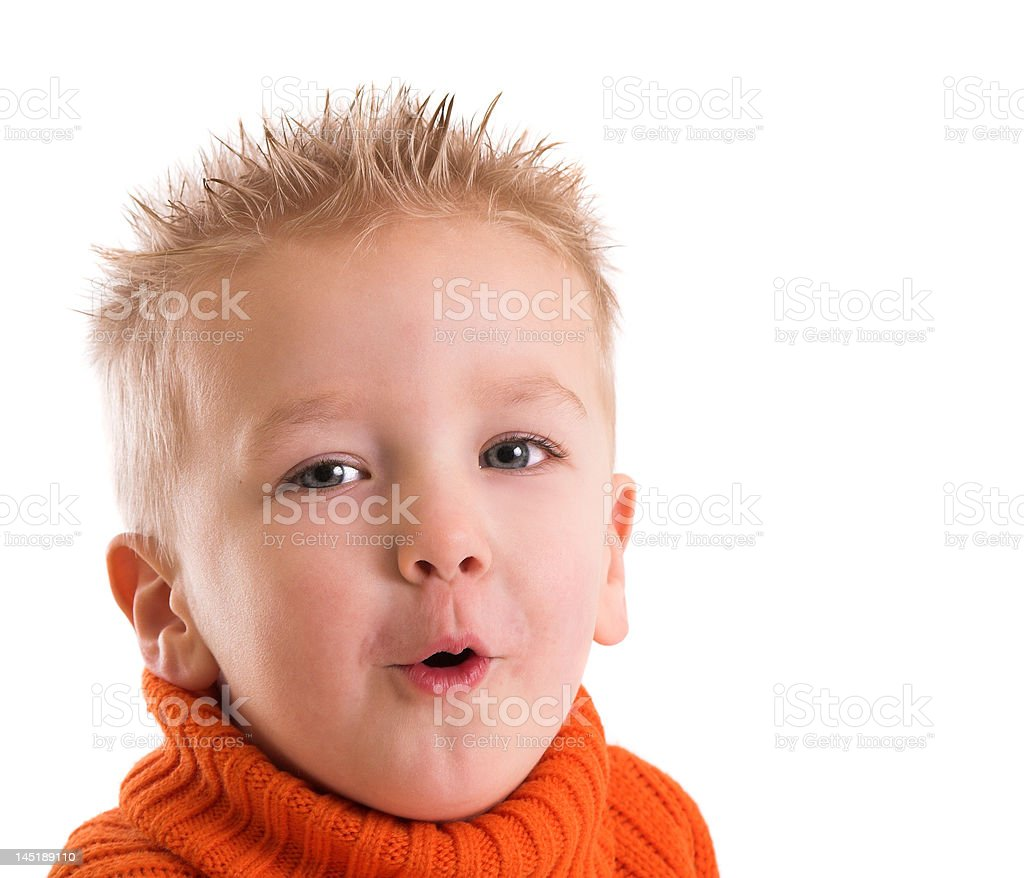 Funny face royalty-free stock photo
