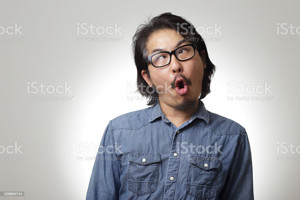 Funny face stock photo