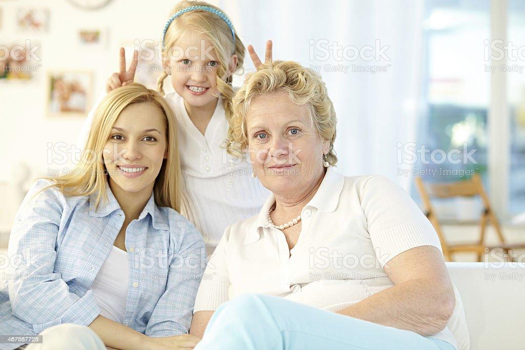 Funny family portrait royalty-free stock photo