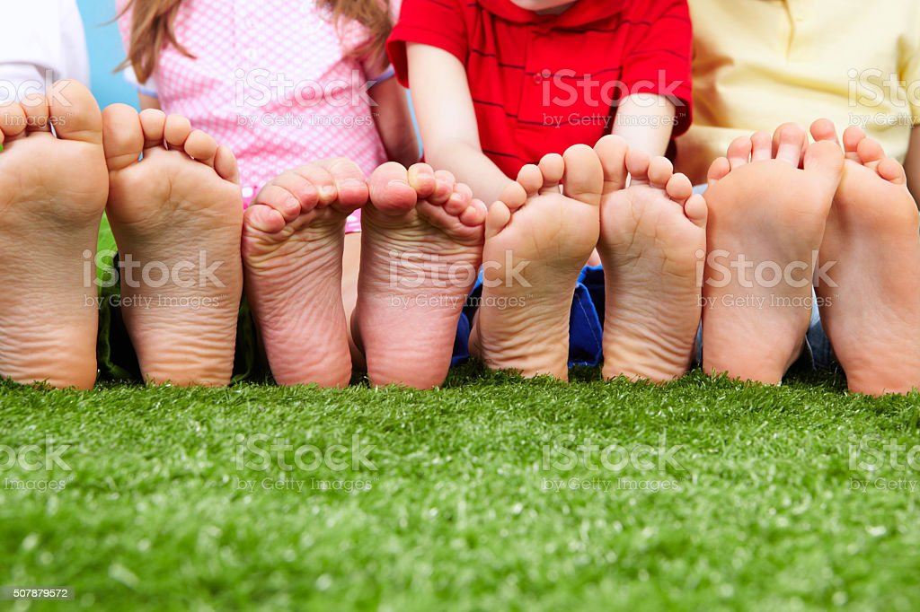 Funny feet stock photo