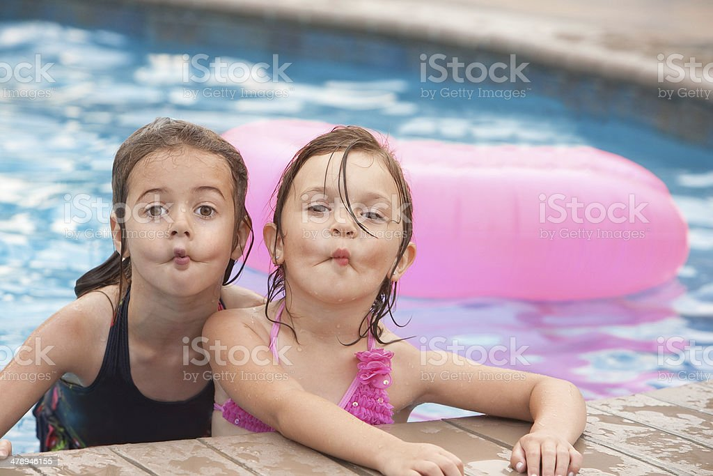 Funny Fish Face Friends royalty-free stock photo