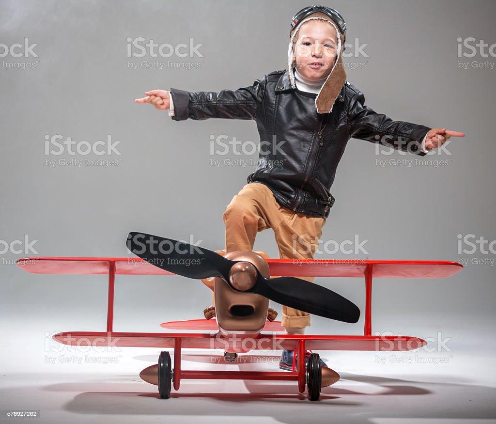Funny Flight stock photo