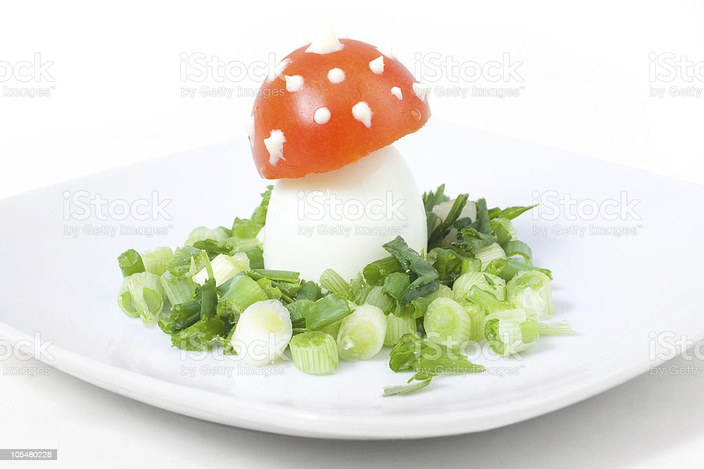 Funny food stock photo