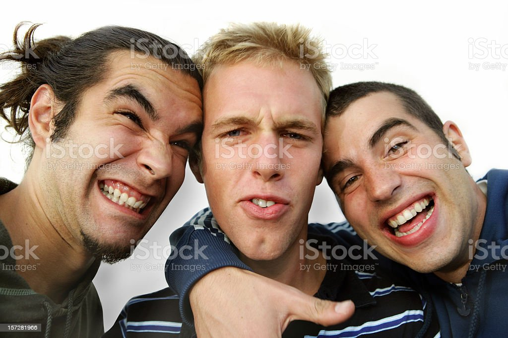 Funny friends royalty-free stock photo