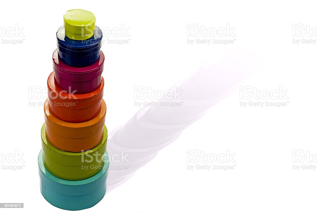 Funny gift boxes royalty-free stock photo