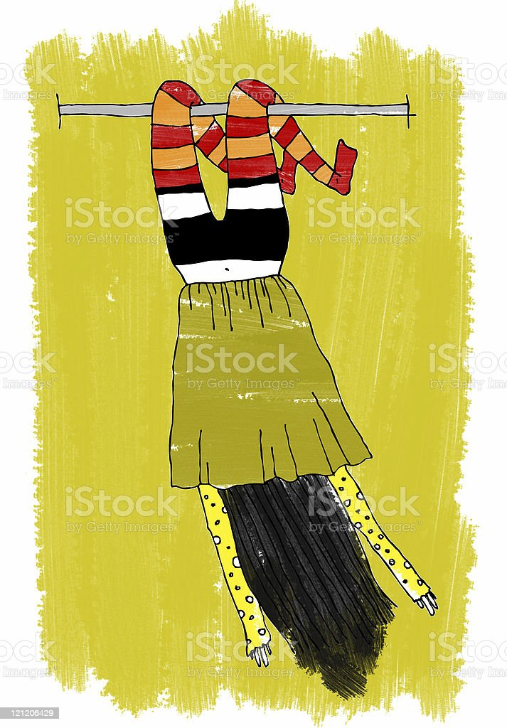 Funny girl royalty-free stock photo