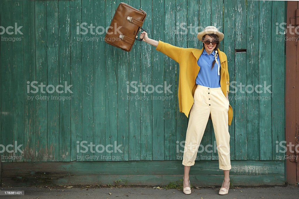 Funny girl stock photo
