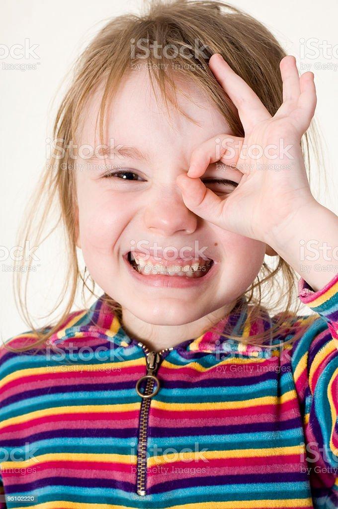 Funny girl stock photo
