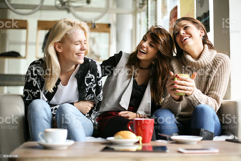 Funny girls. stock photo