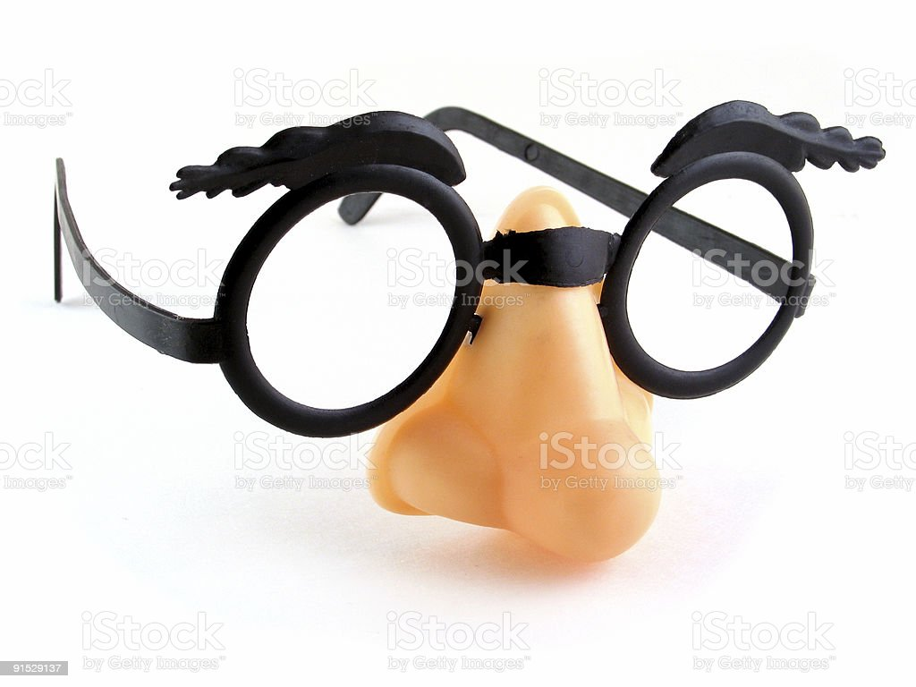 Funny Glasses Isolated on a White Background stock photo