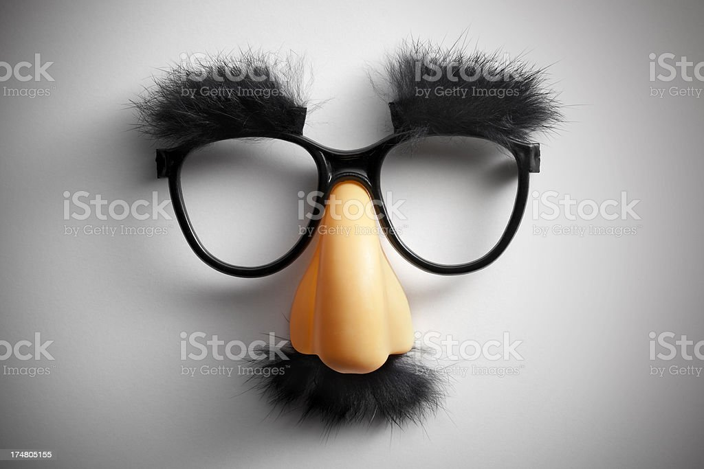 Funny glasses. royalty-free stock photo