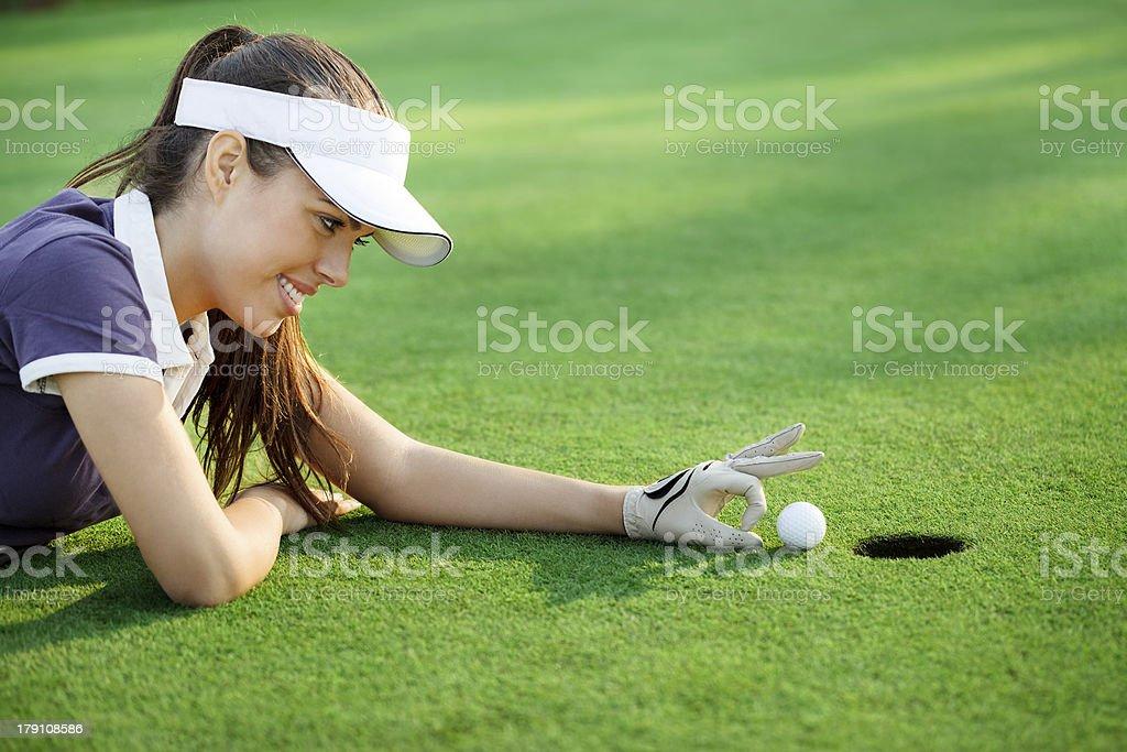 Funny golf royalty-free stock photo