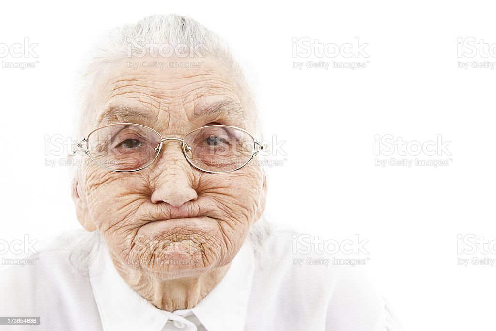 funny grandma stock photo
