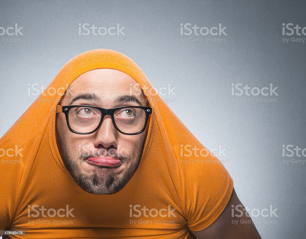 Funny guy - man stock photo