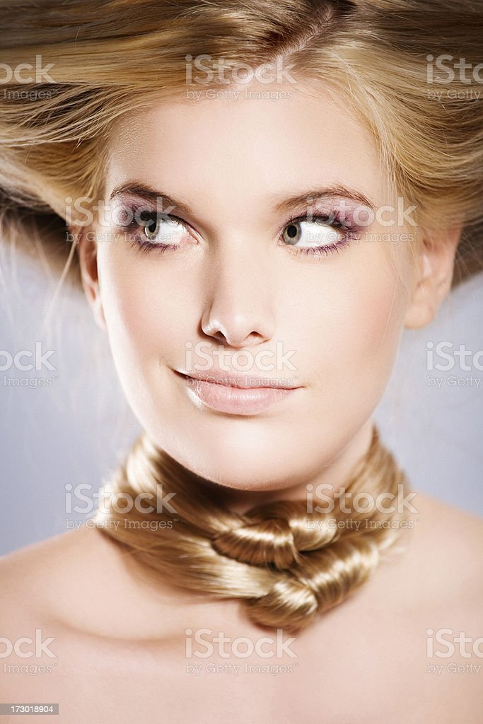 funny hairstyle royalty-free stock photo