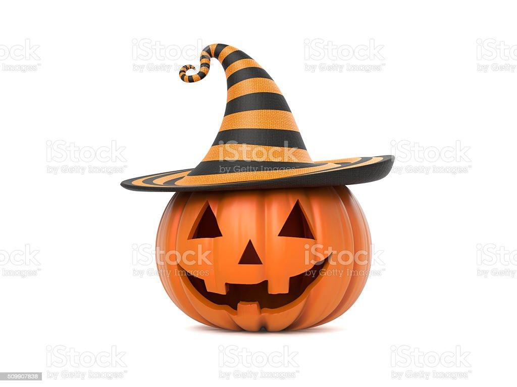 Funny Halloween pumpkin stock photo