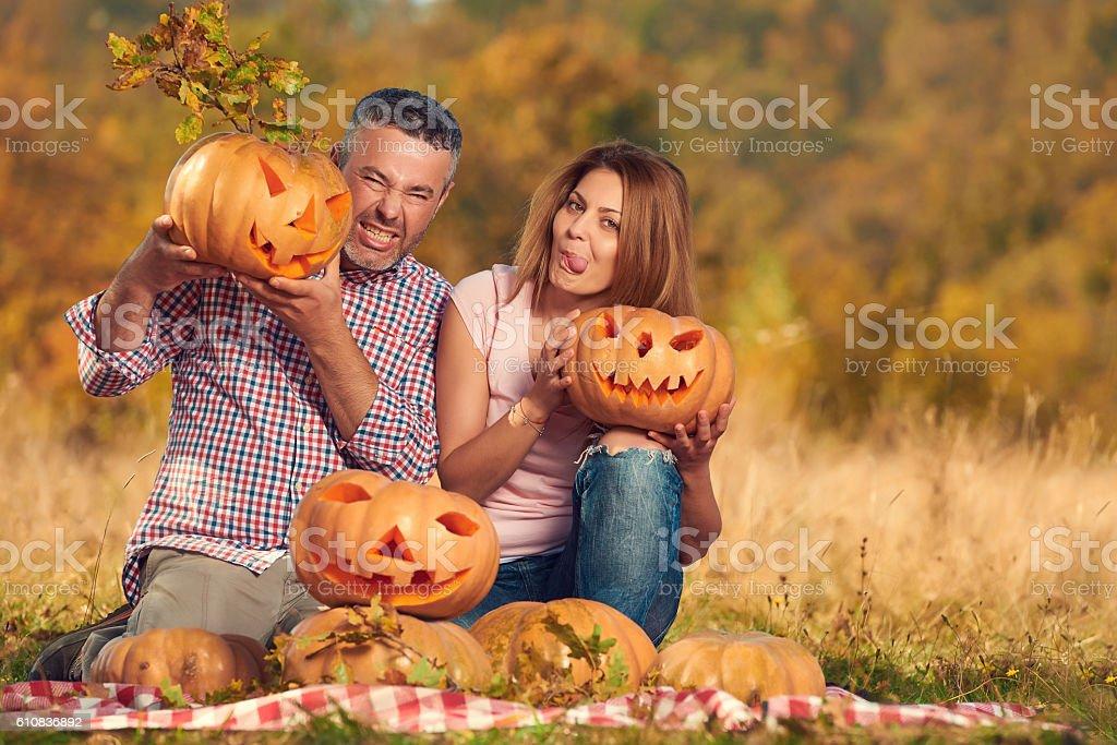 funny Halloween time stock photo