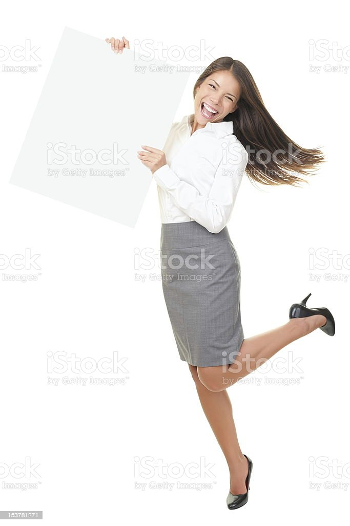 Funny happy sign person standing royalty-free stock photo