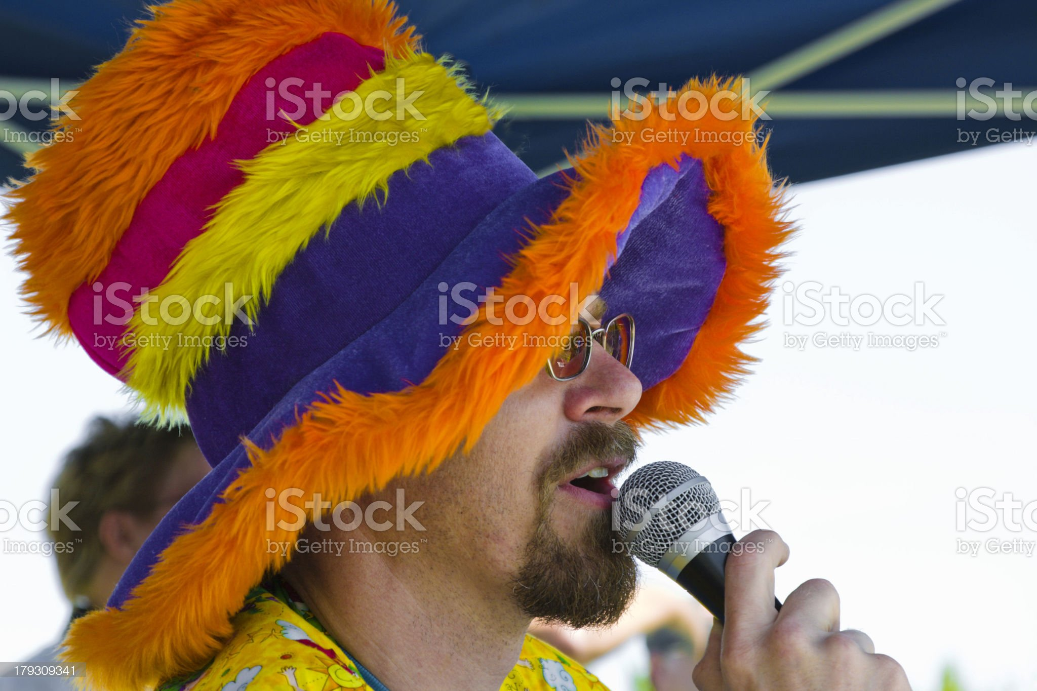 Funny Hat Announcer royalty-free stock photo