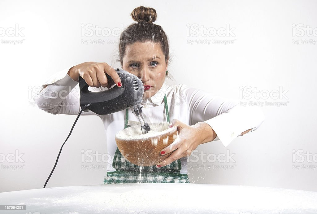 Funny housewife royalty-free stock photo