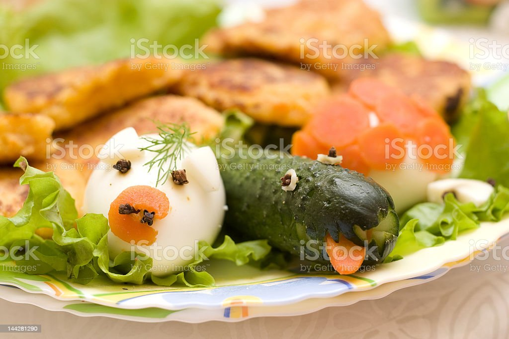 funny infant food royalty-free stock photo