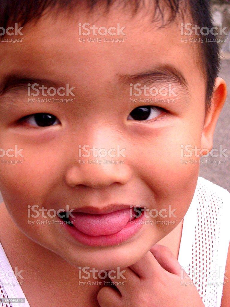 Funny Kid stock photo