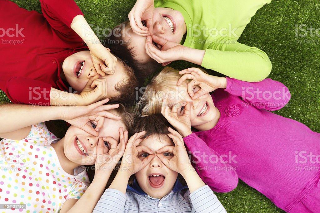 Funny kids stock photo