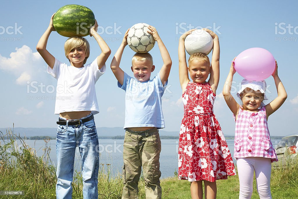 Funny kids royalty-free stock photo