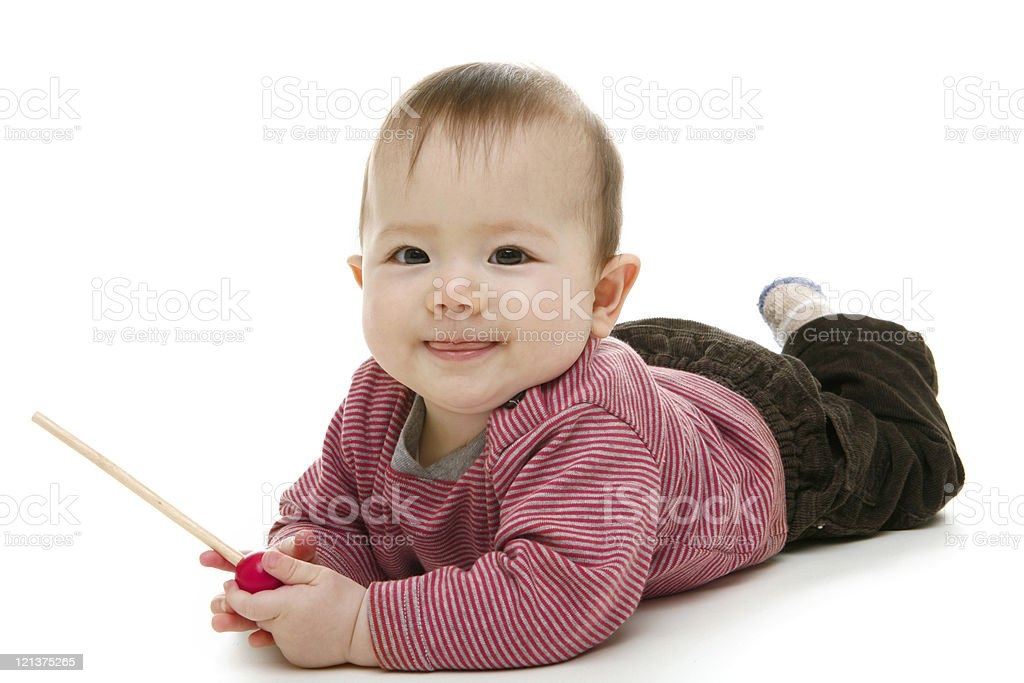 Funny little baby royalty-free stock photo