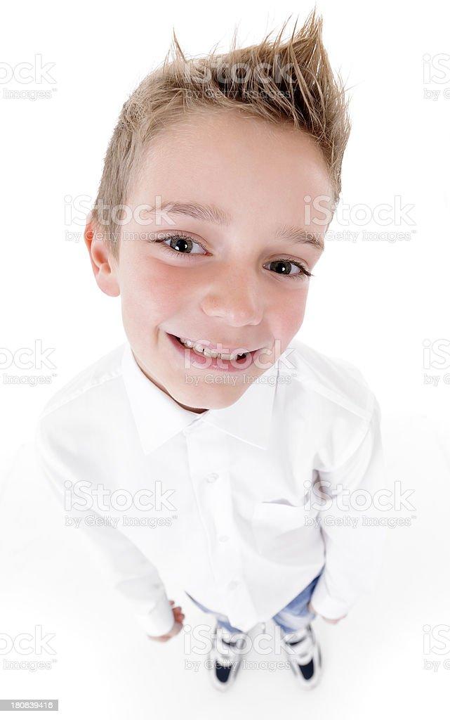 funny little boy royalty-free stock photo