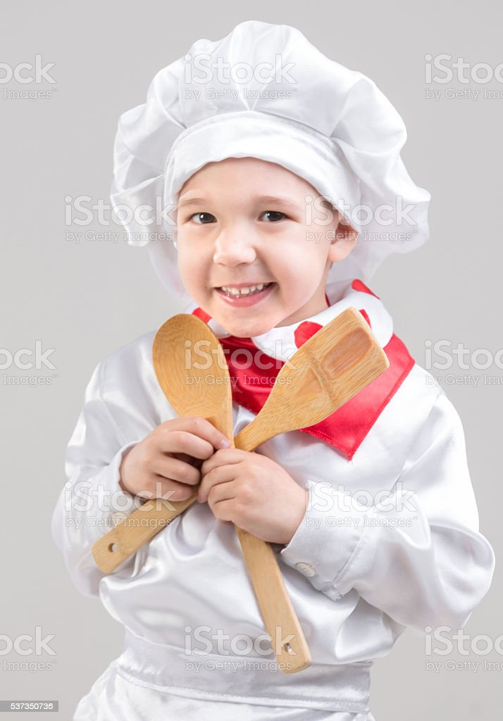 Funny Little Chef stock photo