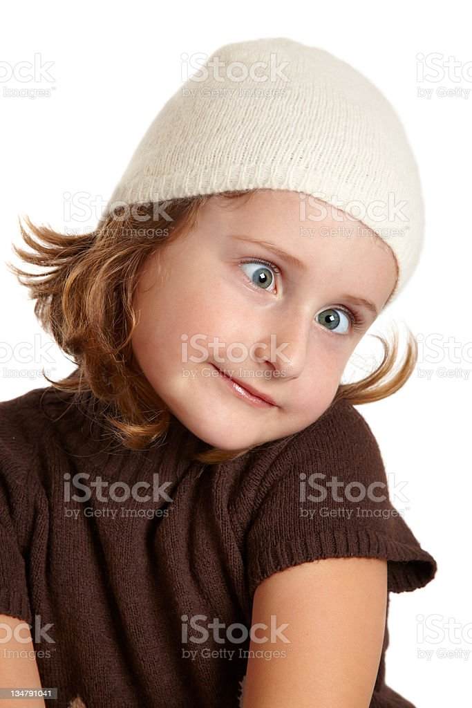 Funny little girl royalty-free stock photo