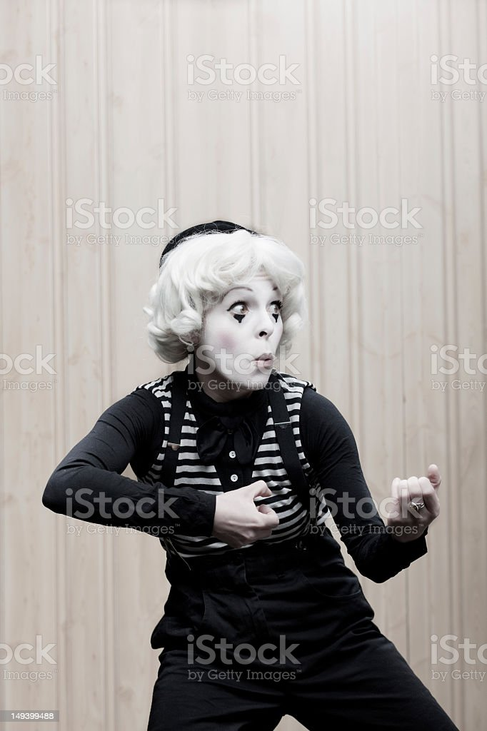 Funny Little Mime royalty-free stock photo